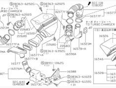 Skyline - R32 GTR - BNR32 - Air Duct - Category: Engine - 16577+B - 16554-05U08