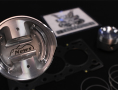 Cappuccino - EA11R - with 1.4mm Head Gasket - F6A EA11R Piston Kit