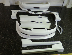 Silvia - S15 - 6 Piece Kit (Front/Side/Rear/Front Fenders/Rear Fenders/Front Canard) - S15