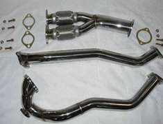 Chaser - JZX90 - Toyota JZX90 Outlet Dual Front Pipe 60mm X 2 Flange 80mm - HPTODFJZX90