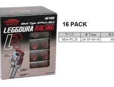 KYO-EI - leggdura Racing Nuts 4 Piece Black