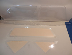 135 800 A Toyota MR2 AW11 Door Left and Right 4mm - Quarter Left and Right 3mm and Rear window 3mm