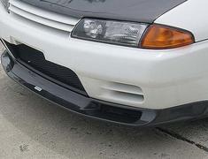 Skyline GT-R - BNR32 - Front Spoiler with Emblem - Material: Wet Carbon - Colour: Plain Weave - Carbon