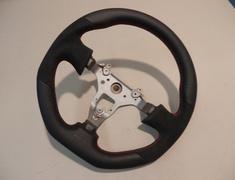 Mines - Steering wheel Red Stitch