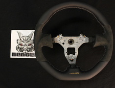 Steering wheel Grey Stitch with Gold logo