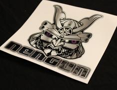 Universal - Nengun Mask Sticker Purple Reflective eyes - NMS