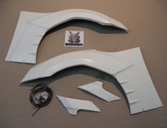 86 - ZN6 - Front Fenders - Right & Left Set (+30mm) - Construction: FRP - AIMLFS-FF