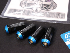 - Colour: Blue Tip Black Stem - Thread: M12x1.5 - Quantity: 4 - BLUE M12x1.5