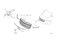 Elgrand - E52 - Molding Grille Centre - Category: Exterior - 62383-1JB0A
