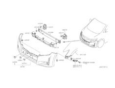 Elgrand - E52 - Bracket Front Bumper Side LH - Category: Exterior - 62227-1JB0A