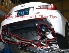 1 Rear Muffler with Titan Tips
