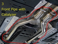 3 Front Pipe with Catalyzer