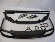 3 Peace Kit Lexus GS F GRL10 Sport Front spoiler + Side steps +  Rear skirt with tail dividers