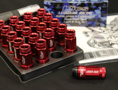 RL53-13R Roulette Type - 16 Nuts + 4 Lock Nuts - M12xP1.25 - L=53mm - Red