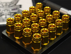 - RL53-11A - Roulette Type - 16 Nuts + 4 Lock Nuts - M12xP1.5 - L=53mm - Gold