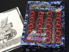 - RL53-11R - Roulette Type - 16 Nuts + 4 Lock Nuts - M12xP1.5 - L=53mm - Red