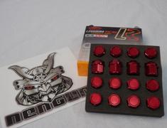 - KIS16R - Red Color : M12 x 1.5 Nut set X 16