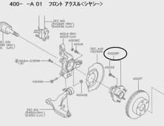 Murano - PNZ50 - 40202-ZM70A - Z50 - Hub Assy