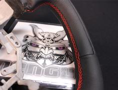 - Subaru/Toyota - BRZ/86 - ZC6/ZN6 - Flat Bottom Steering Wheel - Black leather/Red stitch (part dimpl