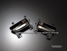 Black Chrome Inside Door Handle SET