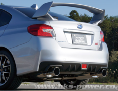 WRX STI - VAB - Pieces: 4 - Pipe Size: 75mm-60mm(x2) - Tail Size: 124mm(x2) - Body Type: S304 - Tail Type: SSR (Supe