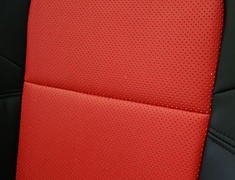 Skyline GT-R - BNR34 - Full Set for cars with Side Airbags - Material: PVC - Color: Black - Insert: Red - Thread: Red - Seat: All - SACPTZ-BNR34-FUL