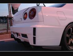 Skyline GT-R - BNR34 - Rear Bumper - Construction: FRP - Colour: Unpainted - BNR34-RB