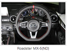 Roadster - ND5RC - Material: Leather - Color: Black - Diameter: 356mm - Stitch: Red - MND1370-03