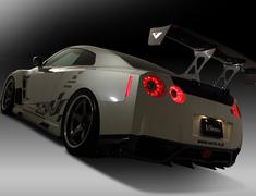 GT-R - R35 - Rear Wing - Euro Edition - Center Mount - VARIS trunk - Construction: Carbon - Colour: Unpainted - VANI-086