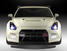 GT-R - R35 - Grille Cover - for VARIS Front Bumper Only - Construction: Carbon - Colour: Unpainted - VANI-072