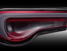 Jewel LED Tail Lamp REVO - Clear/Red Chrome
