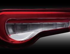 Jewel LED Tail Lamp REVO - Half Red/Chrome
