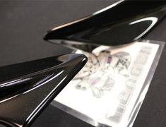 86 GT - ZN6 - Rear Side Spoiler - Painted Black (D4S) - PPE made - MS315-18002-C0