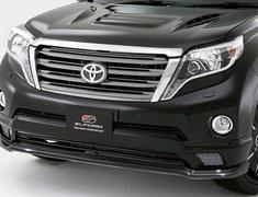 Land Cruiser Prado - GRJ150W - Front Half Spoiler (Upper Carbon) - Construction: Carbon/FRP - Colour: Unpainted - E150FHC