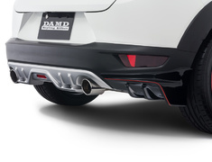 CX-3 - DK5AW - Rear Diffuser - Colour: Ceramic Metallic (47A) - Colour: Crystal White Pearl Mica (34K) - Colour: Deep Crystal Blue Mica (42M) - Colour: Dynamic Blue Mica (44J) - Colour: Jet Black Mica (41W) - Colour: Meteor Gray Mica (42A) - Colour: Seoul Red Premium Metallic (41V) - Colour: Titanium Flash Mica (42S) - DD-CX3DK-RDP