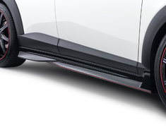 CX-3 - DK5AW - Side Skirts - Colour: Ceramic Metallic (47A) - Colour: Crystal White Pearl Mica (34K) - Colour: Deep Crystal Blue Mica (42M) - Colour: Dynamic Blue Mica (44J) - Colour: Jet Black Mica (41W) - Colour: Meteor Gray Mica (42A) - Colour: Seoul Red Premium Metallic (41V) - Colour: Titanium Flash Mica (42S) - DD-CX3DK-SSP