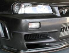 Skyline GT-R - BNR34 - Front Bumper Spoiler - Construction: Dry Carbon - 62020-RSR47