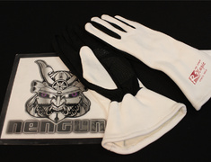 Universal - Color: White/Black - Size: M - Racing Gloves - W/B