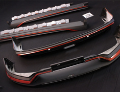 X-Trail - T32 - Aero Kit - Front under spoiler + side skirts + rear under spoiler - Construction: ABS Plastic - 62010-RN2T1-X0