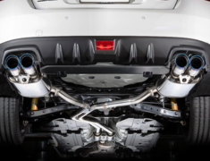 WRX S4 - VAG - Dual Center Mufflers - Pieces: 3 - Pipe Size: 60-2x50mm - Tail Size: 2x 96mm - Weight: 21.1kg - Tail Type: Slash Cut - B71354W
