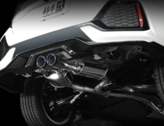 Civic - FK7 - Pieces: 3 - Pipe Size: 60mm - Tail Size: 2x96mm - H713118