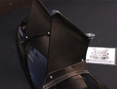 Fairlady Z - 370Z - Z34 - Material: FRP - Width: 1565mm - Height: 160mm - Weight: 3.2kg - Z34-262F-FRP