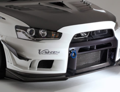 Lancer Evolution X - CZ4A - Front Bumper Ver.2 + Under Lip Ver.S - Construction: FRP+LIP CARBON - VAMI-213