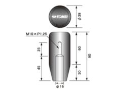 Nissan - Length: Long - Thread: M10 x P1.25 - 32865S010L
