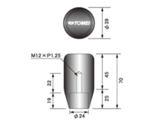 Nissan - Length: Short - Thread: M12 x P1.25 - 763003