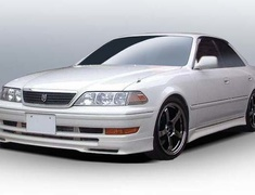 Mark 2 - JZX100 - Half 3 Point Set: Front Half + Rear Half + Side Steps - Construction: ABS - Colour: Unpainted - FS-H3PS-JZX100
