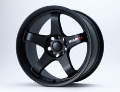 "Skyline GT-R - BNR32 - Colour: Matte Black - Size: 18"" - Width: 9.0J - Hole: 5H-114.3 - Offset: +22 - 4030S-RSR27-MB"