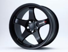 """Skyline GT-R - BCNR33 - Colour: Matte Black - Size: 18"""" - Width: 9.5J - Hole: 5H-114.3 - Offset: +12 - 4030S-RSR46-MB"""