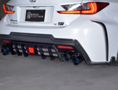 RC F - USC10 - Rear Bumper Diffuser - Construction: FRP + Carbon - 1L003P10