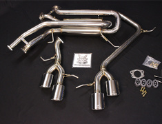 LX 570 - URJ201W - Side muffler OVAL 117 W x 2 stainless steel - Left and Right - SMO2SS